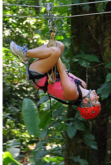 The last zipline is a free style one which allows for nice and good fun