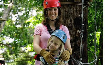 Children 4 and older can join the zipline canopy tour in Bocas del Toro