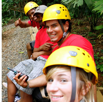 All of the guides at the Zipline Canopy Tour in Bocas del Toro are thoroughly trained