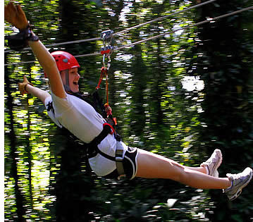 The zipline rainforest canopy tour in Bocas del Toro is more exciting that many other ziplines in Central America